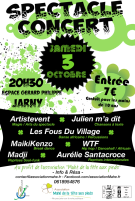 Affiche spectacle concert 3 octobre 2015