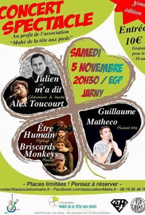 Affiche spectacle concert 3 octobre 2015